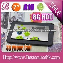 3G build in dual core 1.6G 1G Rom 16G Nand Flash best 7 inch capactive tablet with CE 5 point touch