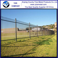 Powder coated Palisade Fencing For Sale/palisade security fence system/European aluminium palisade fence