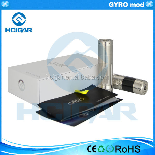 shenzhen hcigar design GYRO mod variable wattage mod 35w new e cigarete