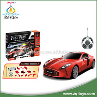 Multifunctional diy racing car toy remote control car best gift for children
