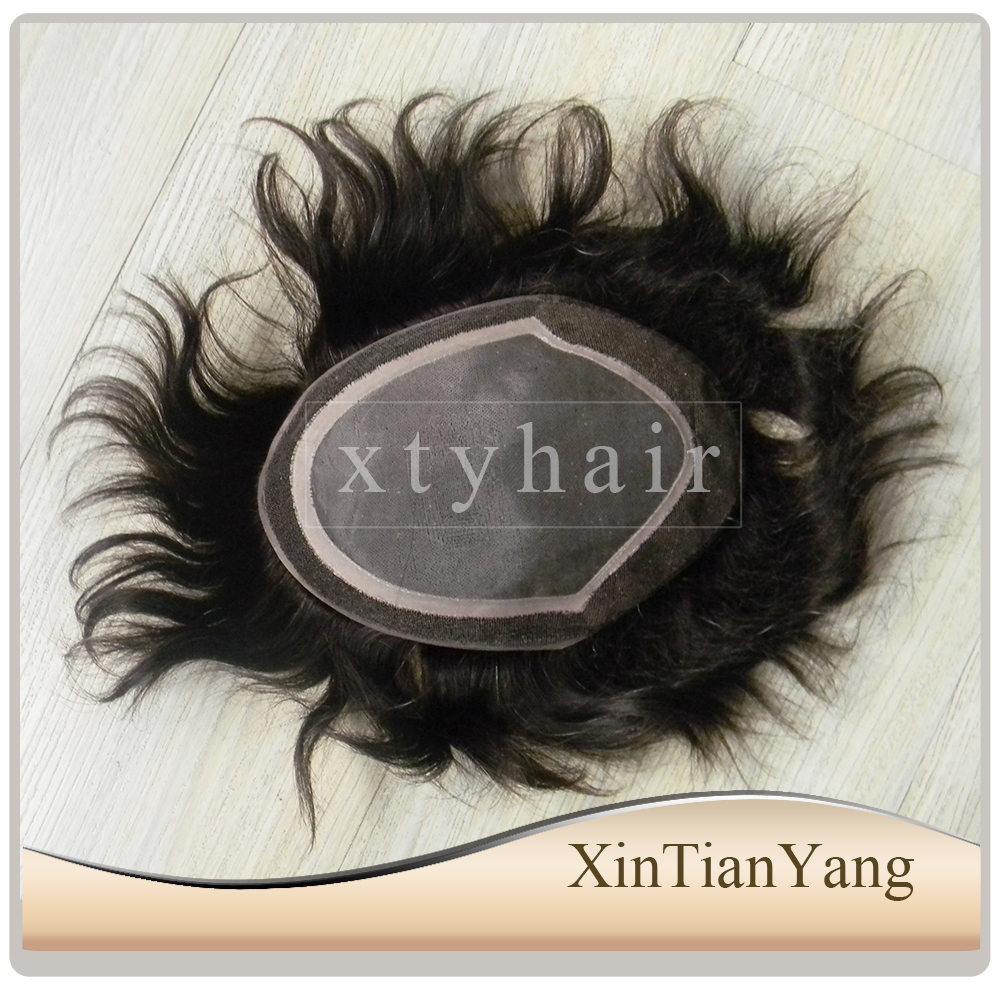 Alibaba express best price 100% indian remy hair natural hair line toupee, female toupee with fine mono base for women black men