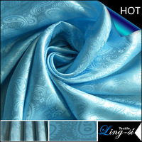 Polyester Tecidos Satin Jacquard Fabric for Home Textile
