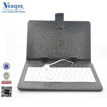 Veaqee hot selling universal tablet keyboard case 7 inch with usb cable for ipad