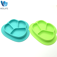 Wholesale Cheap Bulk Dinner Plate High Quality Organic Silicone Baby Placemat Plate Kids Plastic Children Divided Plates
