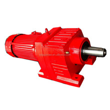 Foot Mounted Inline Helical Speed Reducer Electric Motor Gear Reduction Box