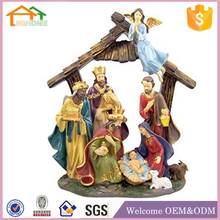 Factory Custom made home decoration polyresin christmas crafts nativity scene
