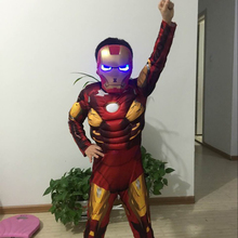 Unique style cosplay halloween the avengers iron man costume for child