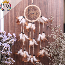 indian handmade hemp rope woven feather dream catcher feather dreamcatcher supplies for home decoration