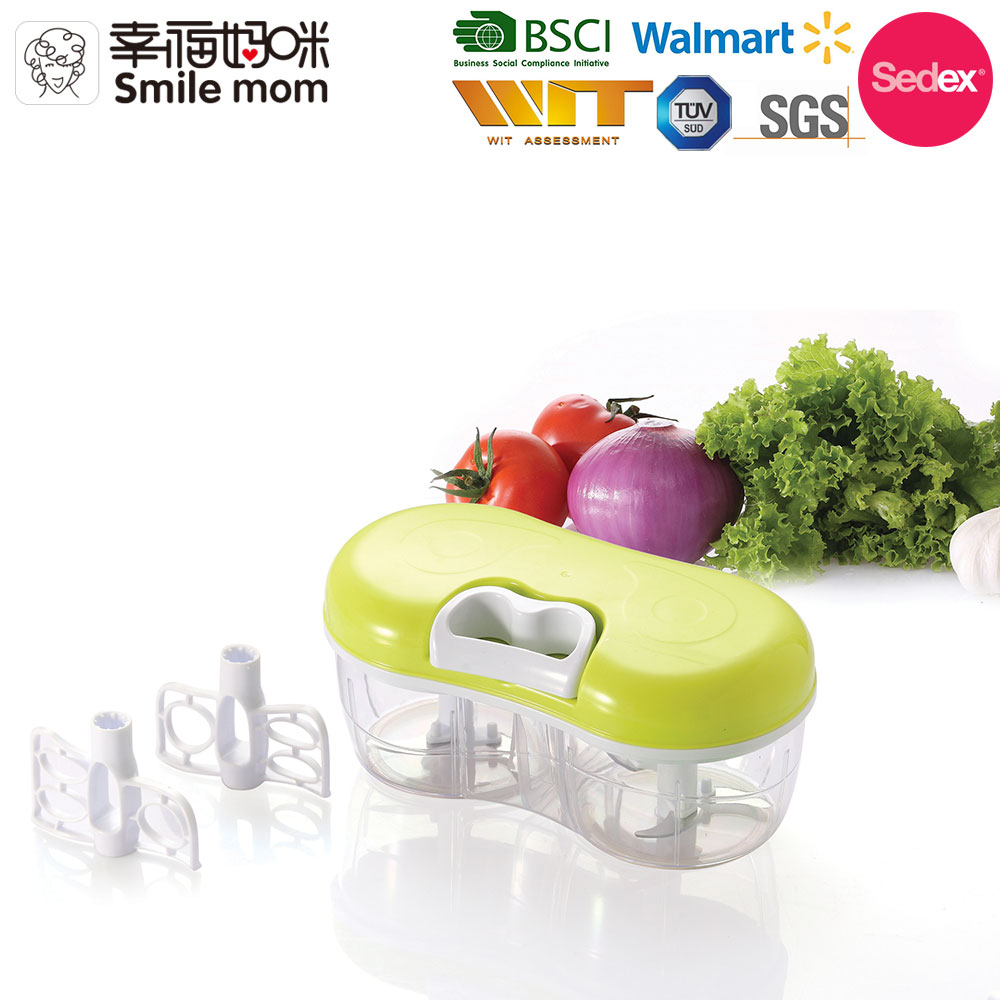 A383 Easy to use and disassemble to wash twin vegetable chopper and blender handy chopper
