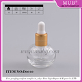 Special design 12ml round shaped glass essential oil bottles with aluminum cap dropper