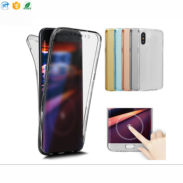 High Quality Shockproof Protective Mobile Phone Cover Case for iphone x 360 tpu case