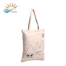 High quality custom reusable solid white cotton shopping tote bag