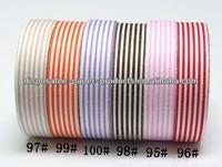 Wholesale YIWU FACTORY Stripe Fabric Washi Tape 15mm wide Roll Craft Decorative Sticky Cotton Adhesive