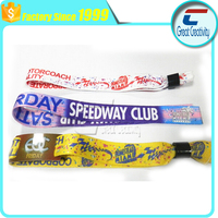 promotional wholesale personalised custom fabric concert wristbands for events