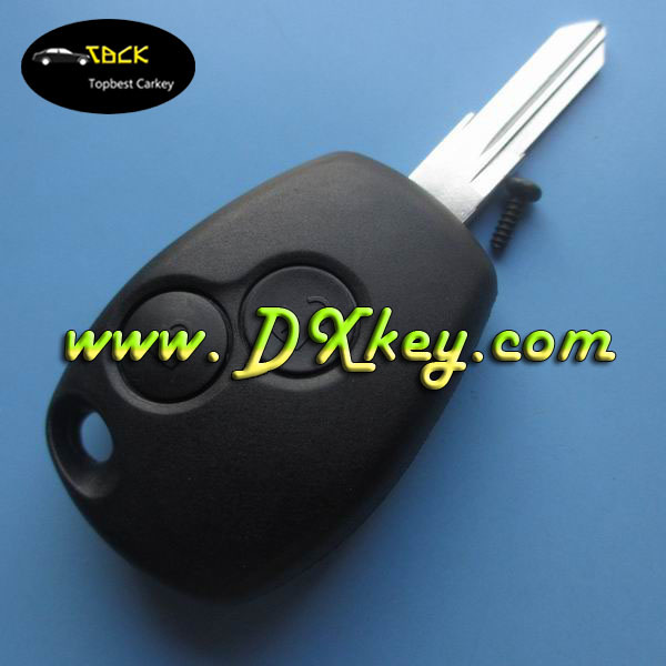 Shock price plastic key cover with 2 button for renault key case for blank card renault with battey clamp without logo