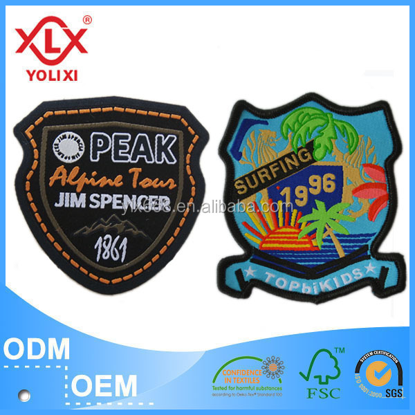 Fabric clothing patches for garment
