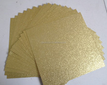 Gold Glitter paper for Box and book cover binding Specialty Fancy Paper 120g