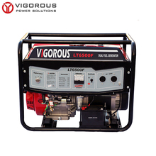 OHV Engine Driven Portable Dual Fuel Power 6KW Generator for Home Backup