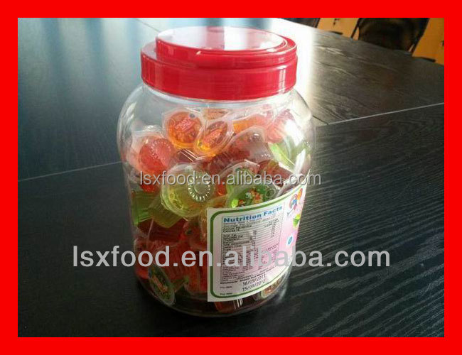 mini fruit jelly cup