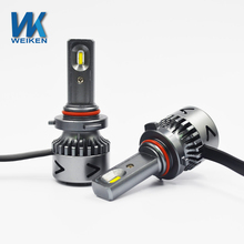 WEIKEN new product 60w 6000k 9006 9005 aluminum IP65 waterproof super bright led headlight bulb for cars