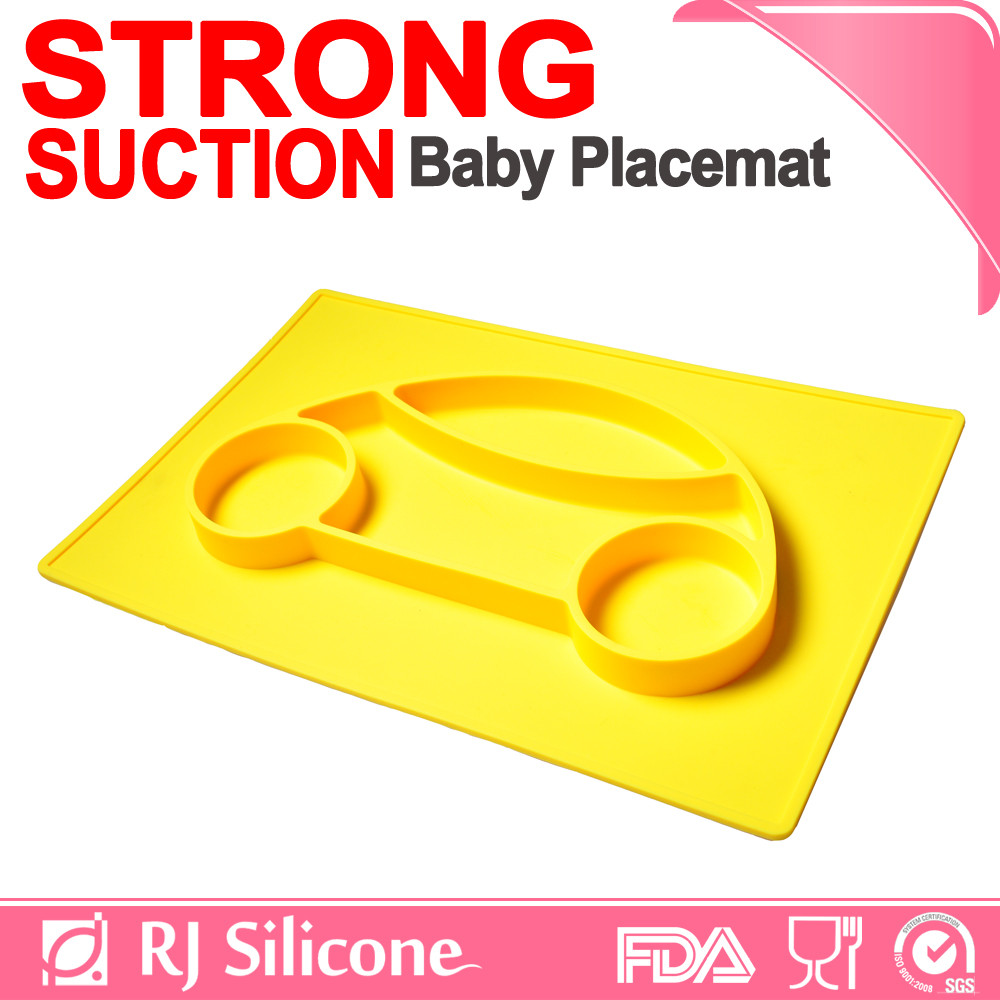 RJSILICONE silicone baby plate dividers novelty placemats heat protection silicone placemat
