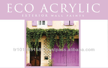 Eco Acrylic long life, matt, final coat decorative exterior paint.