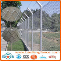 High Security Green Black PVC Coated Hot dipped Galvanized Chain Link Wire Mesh Fence (Factory Exporter)
