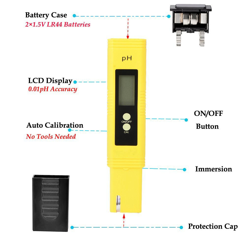 Portable Large LCD screen 0.01 accuracy PH tester