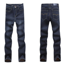 High quality winter warm men jeans wholesale