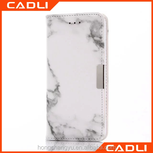 Universal machine making designer Flip leather marble phone case for xiaomi with card slot