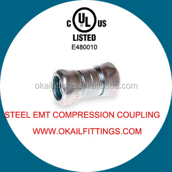 ul listed Steel Compression Coupling, EMT Compression Coupling, EMT Set Screw Coupling