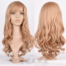New Design Fashion Blond Brown Box Braid Wig Synthetic Sew In Hair Wig