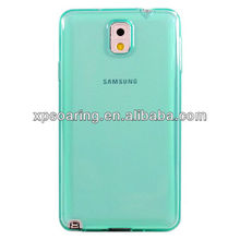 Mobile phone clear rubber cover case for Samsung N9000