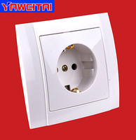 high quality wall socket with earthing/ flush socket with earthing