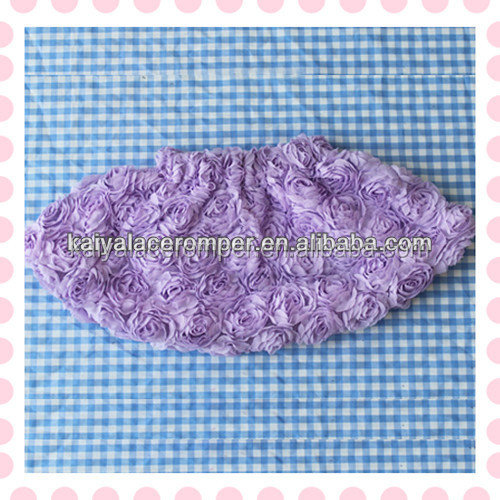 lavender big rose flower baby skirts girls in short skirts no top baby tutu