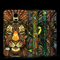Luminous Case in Dark For Galaxy S5 , Empaistic Touch Printing, Leopard Fashion Cell Phone Cover, New Hot Products for 2015