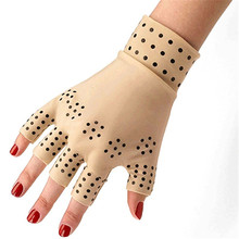 2 pieces /pair Magnetic Therapy Fingerless Gloves Arthritis Pain Relief Heal Joints