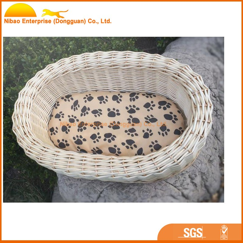 2015 new model unique style handmade rattan dog bed &wicker dog bed for summer