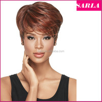 Wholesale Short Hairstyles Wigs Synthetic For African American Black Women Quality Assurance Auburn Wavy Auburn U Part Wig