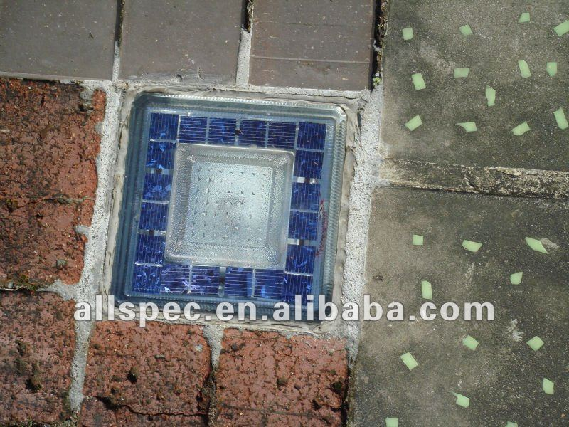outdoor led decor light decorative garden brick solar led glass brick