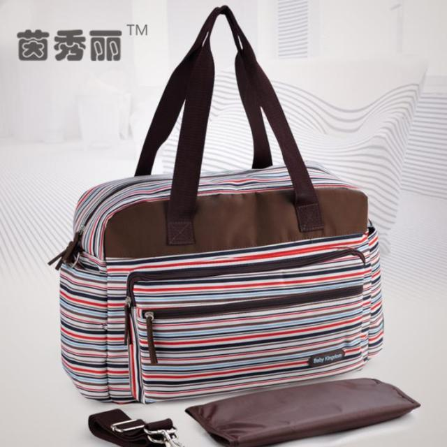 Colorful Strip Nappy Bags Fashion And Multifunctional Baby Diaper Bags Mommy Bags