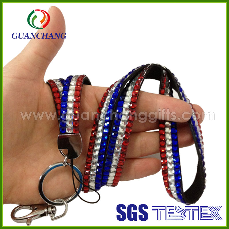 New Products On China Market optical rhinestone lanyard for iphone 5