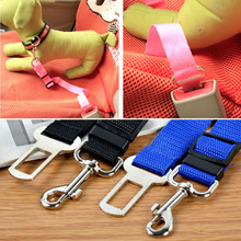 Car Bus Harness Head Collar Clip Adjustable Safety Dog Seat Belts Pet Supply Product Toy accessory Portable Cages Carriers strap