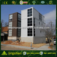 Lingshan Cost Saving Multi Storey Flat Pack Container Home--ISO9001:2008