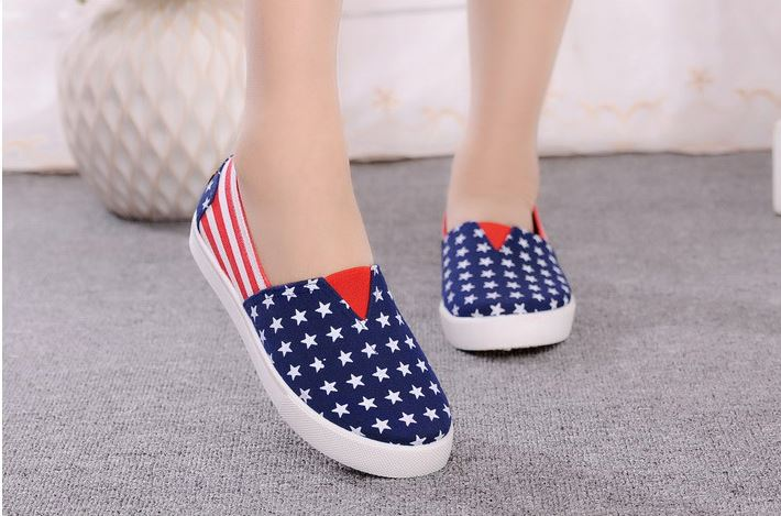 New Fashion design women all star canvas flat shoes