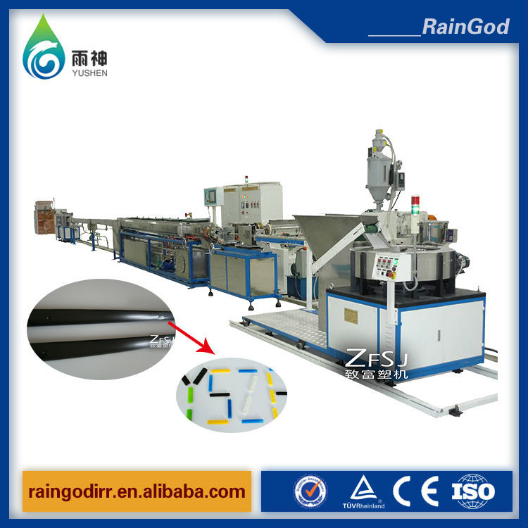 PE plastic drip irrigation pipe extruding machine