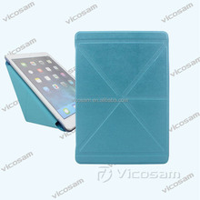 2017 multi-funtional transformer leather case for apple ipad air , tablet case cover for ipad made in China