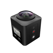New Mini WiFi 360 Degrees V2 Sport Camera Panorama Video Camera Large Panoramic 4K HD Action Video 360 Camera + waterproof case
