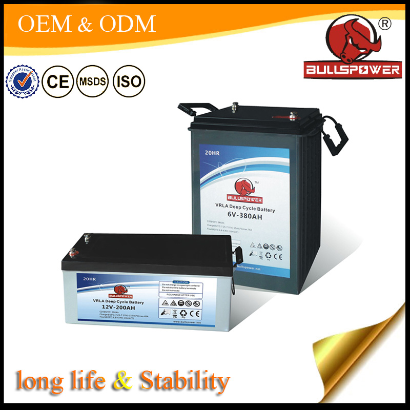 Solar storage battery 12v 220ah UPS battery for renewable solar energy panel
