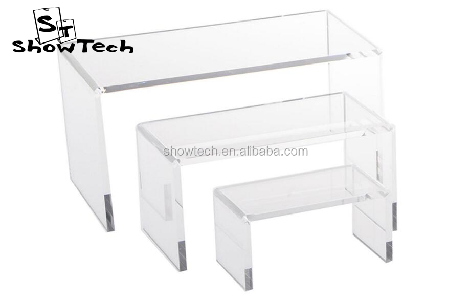 Factory New Design Clear Acrylic Plastic Shoes Display Stand Riser & Display Cubes